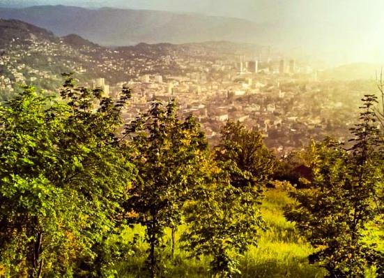 Luce dorata su Sarajevo