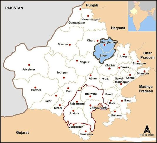 cartina dello Shekhawati