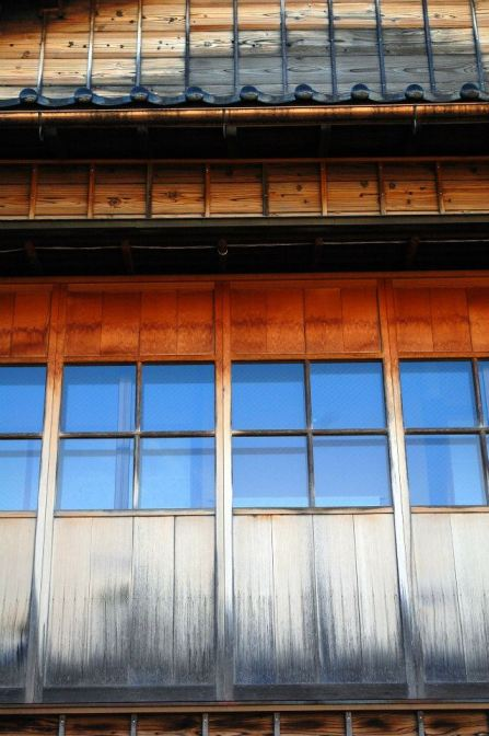 Wooden buildings in Higashi-chaya
