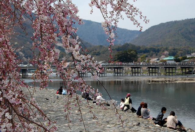 Le rive del Katsura-gawa ad Arashiyama