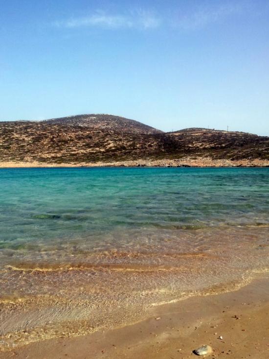 La spiaggia di Kalokaritissa, Amorgos