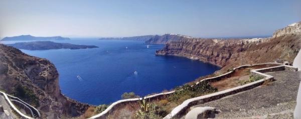 Santorini panorama from Megalochori