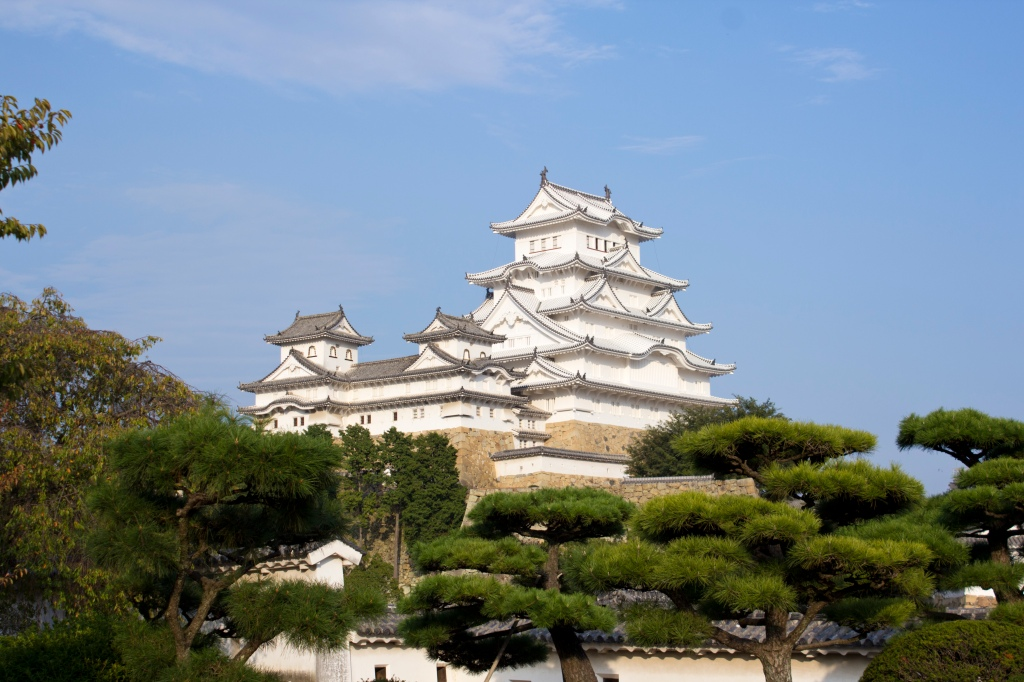 The famous, beautiful Himeji Castle